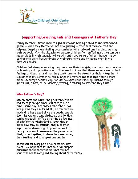 Supporting Grieving Kids and Teenagers on Father's Day